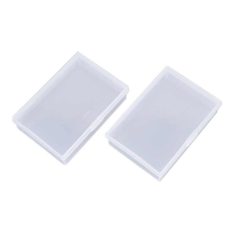 Plastik Transparan Kotak Bermain Kartu Wadah Penyimpanan Pp Kasus Kemasan Poker Permainan Kartu Kotak untuk Pokers Set Permainan Papan 2 buah