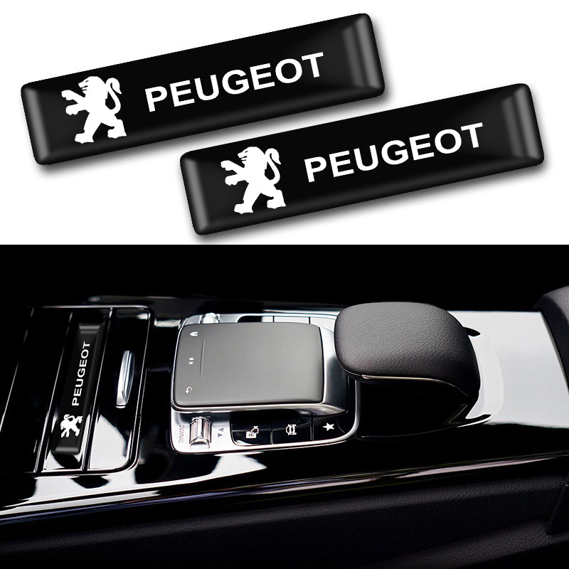 10PCS Car-styling Peugeot Emblem Badge Sticker For Peugeot 107 108 206 207 308 307 508 2008 3008 Car Accessories