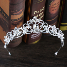 Trendy Crystal Crown Silver Color Bridal Tiara And Crown Hair Accessories for Wedding Bride Hair Jewelry Headpiece 4 2 inch big silver alloy crystal wedding crown tiara and crown bridal accessories hair jewelry ornaments