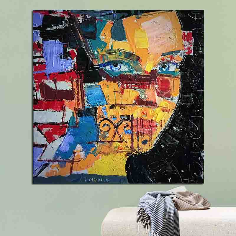 OUCAG Modern Art Painitng Printed Waterproof Canvas Painting Wall Art Pictures Graphic Decoration For Home Office Poster Artwork image
