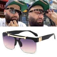FEISHIN Fashion Luxury 2020 Sunglasses Women Brand Designer Unisex Flip Up Square Steampun Men Sun Glasses Male Shades Cool