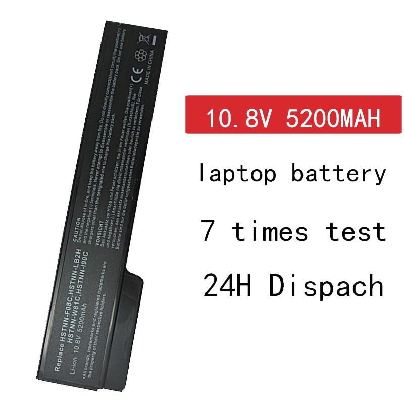 HSW 6 Cells 5200mAH Battery For HP EliteBook 8460p 8460w 8560p ProBook 6360b 6460b 6465b 6560b 6565b 628369-421 Batteria Akku