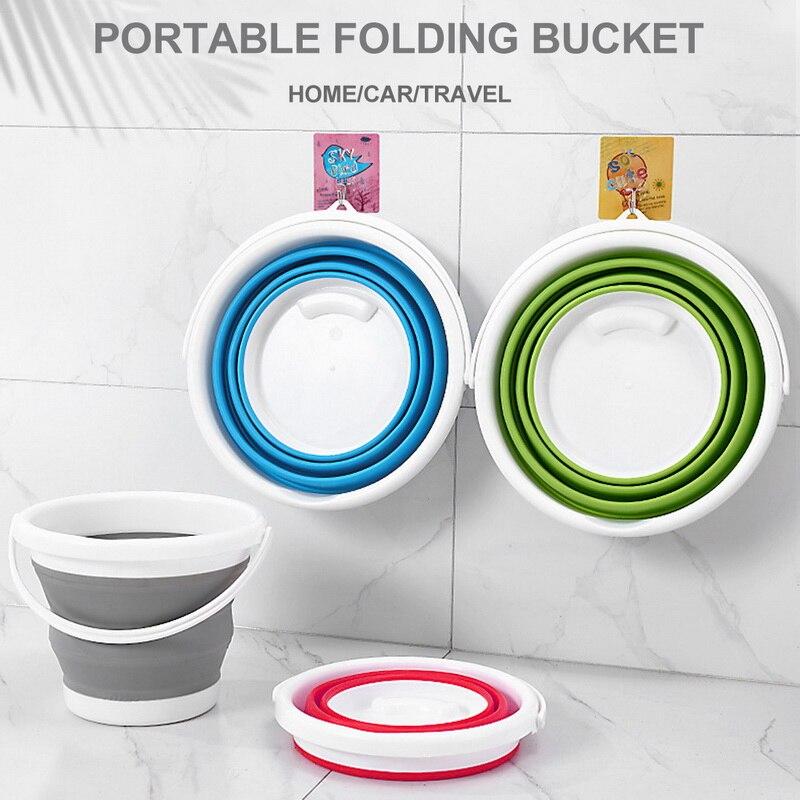 Складное ведро для мытья автомобиля, для рыбалки на открытом воздухе, круглое кухонное ведро для ванной комнаты, Прямая поставка