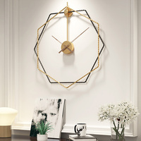 50cm Modern Design iron Silent Classic simple Wall Clock For Home Office Decorative Hanging Living Room Metal Wall Watch