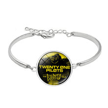 Twenty One Pilots Bangles Bracelet for Music Fans Promotion Gift 21 Valentine's Day Present Wholesale Drop Shipping(China)