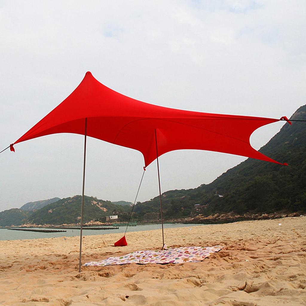 Imperméable à l'eau parasol bâche abri auvent auvent Camping plage tente couverture, léger pliable