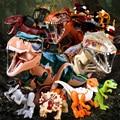 Модель парка Динозавров ископаемый индоминус тираннозавр наборы строительных блоков Юрского периода мир тираннозавр Трицератопс наборы