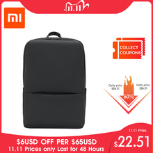 Original Xiaomi classique affaires sac à dos 2 génération 15.6 pouces étudiants ordinateur portable sac à bandoulière unisexe voyage en plein air