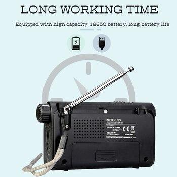 Портативный радиоприемник Retekess TR605 FM/MW/SW Фонарик 4