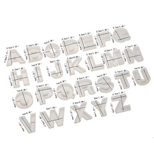 QIAOQIAODIY Jewelry Mold A-S Alphabet English Letters Silicone Craft Making DIY Clear epoxy resin molds for jewelry