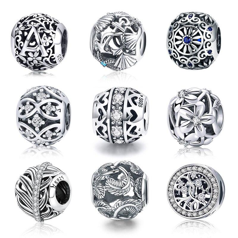 925 silver sterling openwork dazzling daisy meadow CHARM fits European bracelets