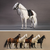 JXK 1:12 Warm blooded Horse Simulation Static Model Soldier Mounted Home Decoration Model Toy