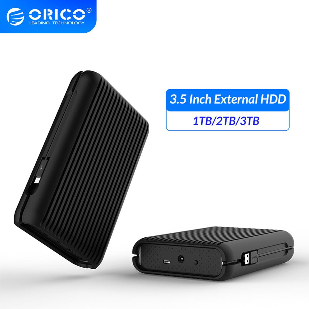ORICO 3.5 Inch External Hard Drive Disk HDD 1TB 2TB <font><b>3TB</b></font> USB C Hard Disk <font><b>HD</b></font> USB3.1 Gen2 10Gbps Type-C Cable With EU Power Adapter image