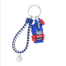 sitaicery 2pcs set pig cute keychain lovers pendant bag charm drive safe key chain for women jewelry female car key ring trinket POPMY Colors Cute Cartoon Transformation Keychain Lovely Robot Key Chain For Women Bag Charm Pendant Key Ring Gifts Jewelry