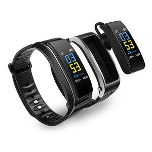 Image 1 - Smartwatch y3 plus com bluetooth, pulseira fitness rastreadora de saúde, fone de ouvido música