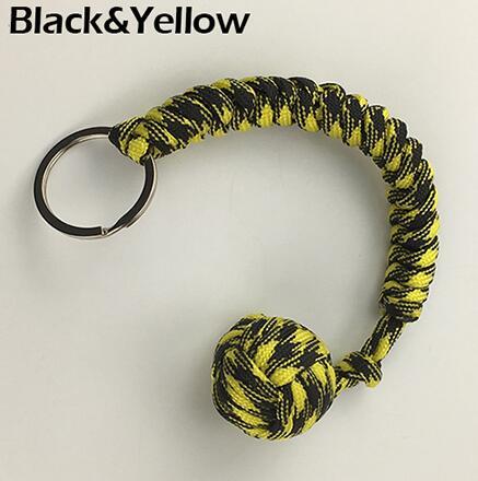 Наружная защита безопасности черная обезьяна кулак стальной шарик для девушки подшипник самообороны ремешок брелок для выживания разбитые окна - Цвет: Цвет: желтый