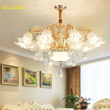 Nordic Luxury LED Chandelier Lighting Living Room Bedroom Crystal Ceiling Chandeliers Kitchen Hanging Lamps Home Decor Luminaria