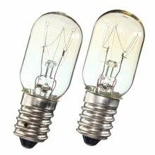 AC 220-230V Эдисона лампы E14 SES 15 Вт/25 Вт холодильник лампа для холодильника лампы Вольфрамовая лампа накаливания лампы теплый белый свет Ligthing