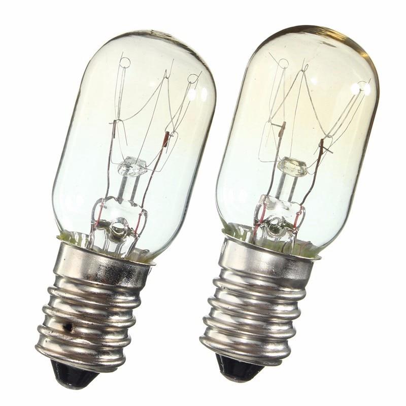 AC 220-230V Edison Bulb E14 SES 15W/25W Refrigerator Fridge Light Bulb Tungsten Filament Lamp Bulbs Warm White Ligthing