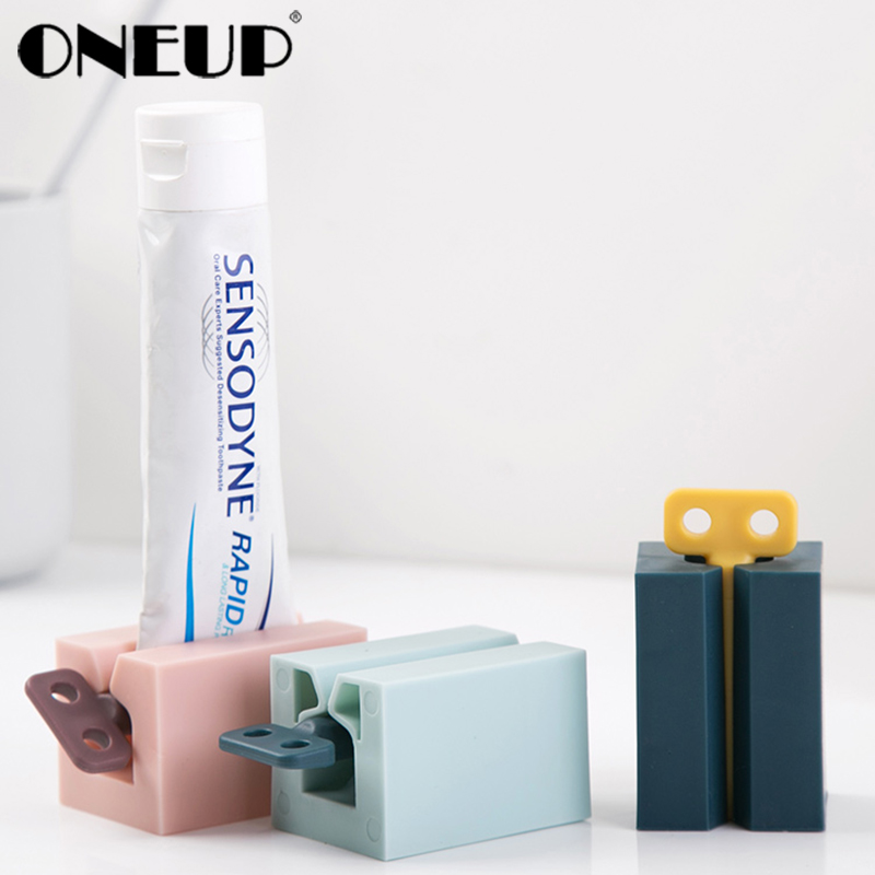 ONEUP Bathroom Toothpaste Squeezer Toothpaste Dispenser Cream Tube Squeezing Toothpaste Dispenser Home Bathroom Accessories Set