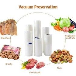 9 sztuk różnych rozmiarów torebki próżniowe do zgrzewarka próżniowa do przechowywania żywności Film próżniowe torebki foliowe urządzenie kuchenne Sous Vide torba do pakowania w Próżniowe przechowywanie żywności od AGD na