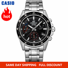 Casio นาฬิกา Edifice นาฬิกาผู้ชายระเบิดด้านบนแบรนด์หรูชุดควอตซ์ 100 เมตรกันน้ำส่องสว่างโครโนกราฟผู้ชายนาฬิกากีฬาทหารนาฬิกาดำน้ำนาฬิกาข้อมือ relogio masculino reloj hombre часы мужские Casio montre homme zegarek meski