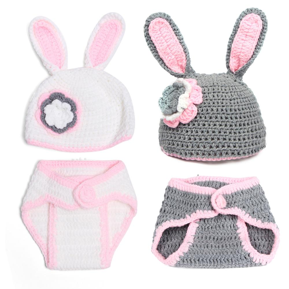 Newborn Photography Clothes Baby Hat And Pant Set Clothing Hand Knitted Clothes Boy Girl Photoshoot Costume Prop Accessories