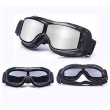 Новейшие винтажные кожаные мотоциклетные очки складные очки винтажные мотоциклетные очки Пилот реактивного самолета 4 цвета солнцезащитные очки