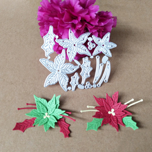 цена на Christmas flowers and leaves cutting paper process die blade punching die blade cutting paper technology die
