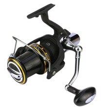 Nova roda de pesca giratória, carretel de metal com alça trocável para pescar, pesca de carpa, equipamento de pesca no mar
