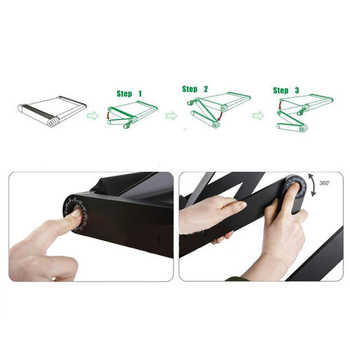 Portable laptop table Adjustable vertical Aluminum Alloy desk Foldable computer table with mouse tray Laptop desk for sofa bed