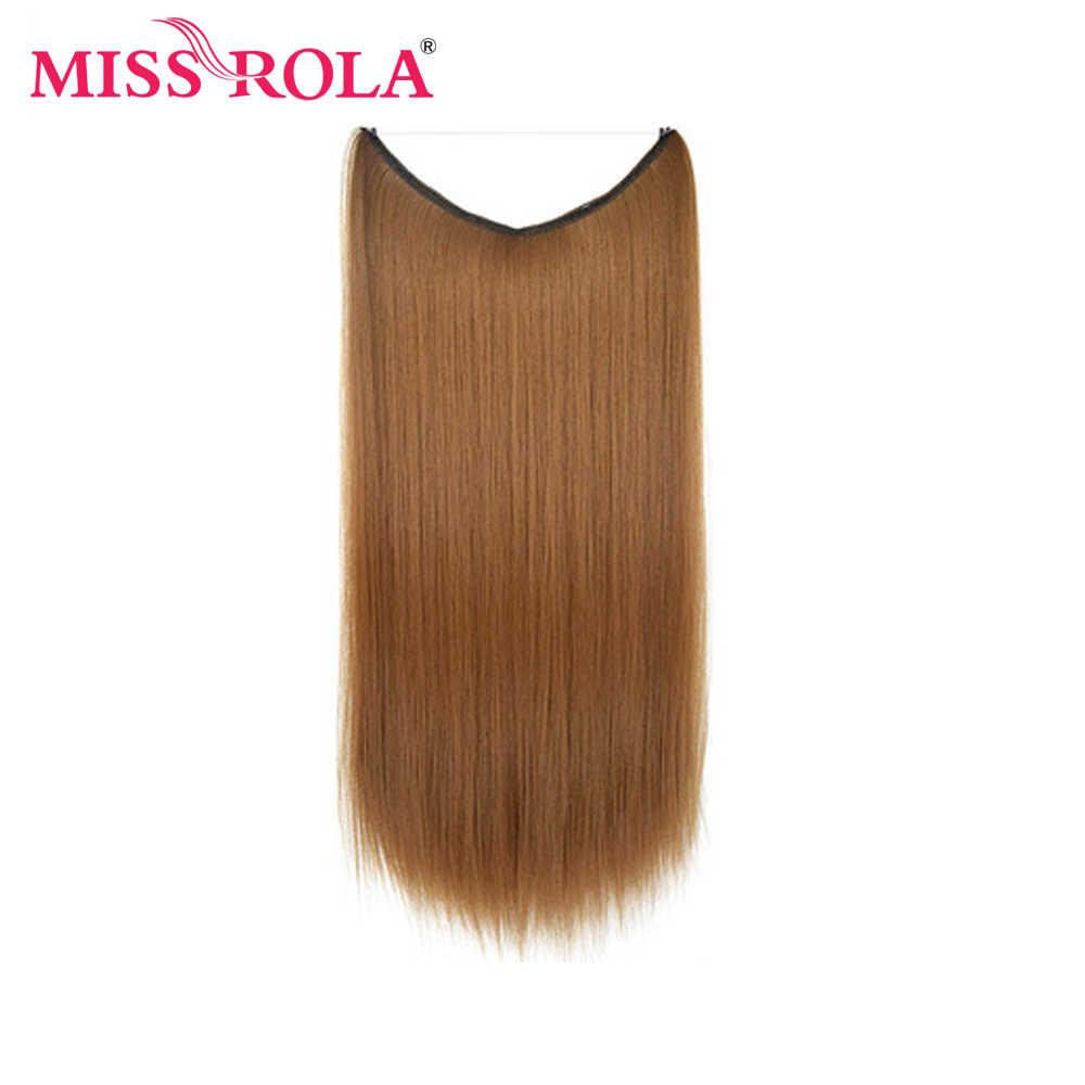 MISSROLA 24 cal długie proste 100g niewidoczny drut OnePiece koński ogon treski wysokiej temperatury włókna syntetyczne do przedłużania włosów