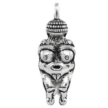 DoreenBeads Zinc alloy Charm Pendants Venus Of Willendorf Fertility Goddess Pregnancy silver color DIY Findings 3.3cmx12mm,3 PCs(China)