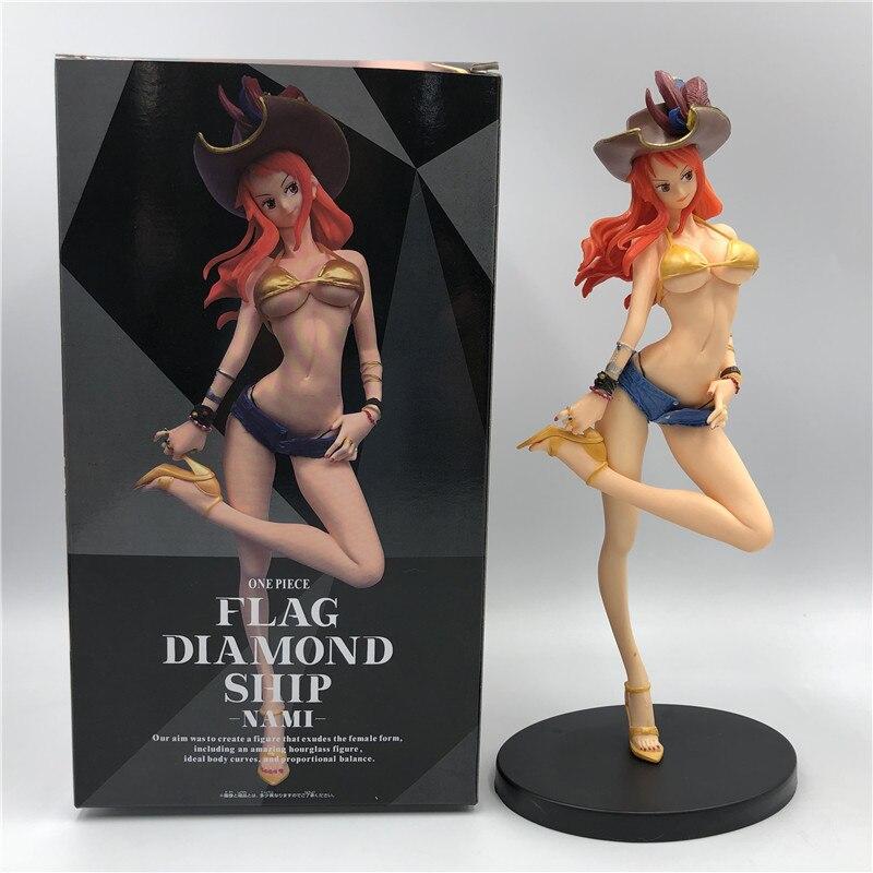 25Cm Een Stuk Nami Piraat Sexy Meisje Beeldje Pvc Figure Collectible Model Speelgoed Pop Voor Gift