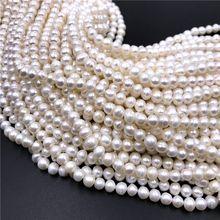 Cuentas de perlas naturales reales para fabricación de joyas, perlas de agua dulce barrocas sueltas para manualidades DIY, pulsera, collar, hilo de 14
