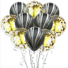 10 agate sequin balloons confetti balloon transparent latex party decorations
