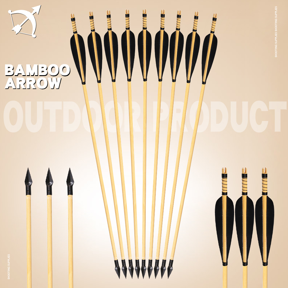 Traditional Archery Hunting Feather Arrow 31 Inches For Recurve/Compound Bow Outdoor Sports Bow And Arrow Shooting Accessories