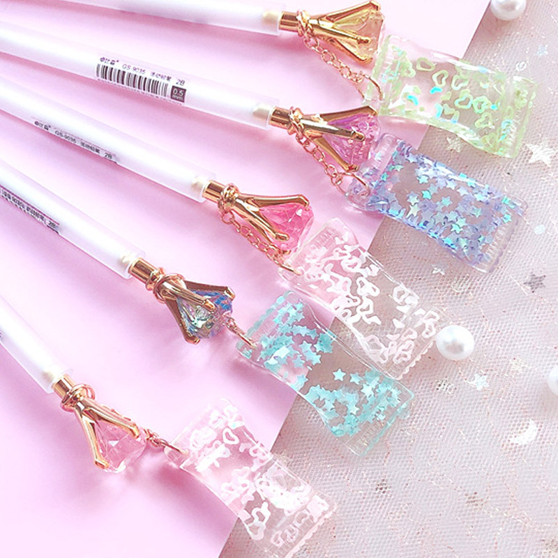 0.5/0.7mm Cute Diamond Mechanical Pencil Kawaii Candy Pendant Automatic Pencil For Kids Girls School Office Supplies Stationery