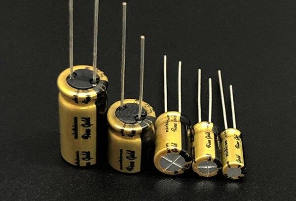 4 pces 10 pces rubycon capacitores eletrolíticos