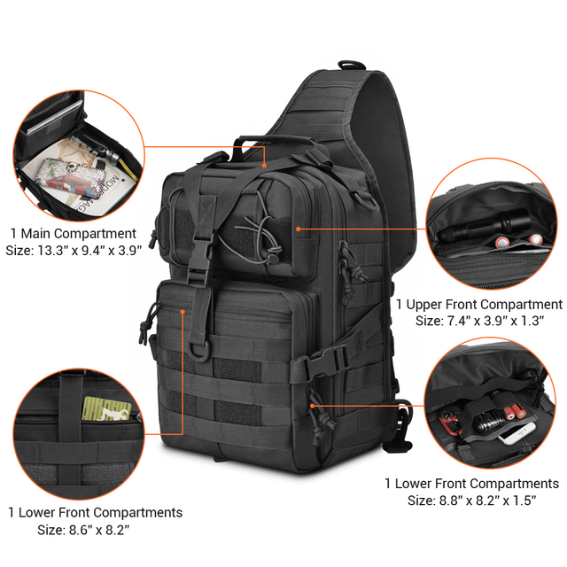 20L Tactical Assault Pack Military Sling Backpack Army Molle Waterproof EDC Rucksack Bag for Outdoor Hiking Camping Hunting 3