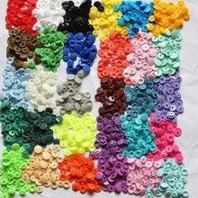 100 ensembles boutons pour vêtements accessoires botones decorativos KAM T5 bébé bouton plastique haute qualité bouton pression