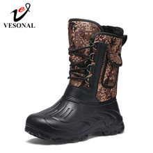 VESONAL Merk Casual Mannen Snowboots Mannelijke Volwassen Winter Nieuwe Outdoor Waterdichte Licht Winter Warme Korte Pluche Sneakers Mannen Schoeisel(China)