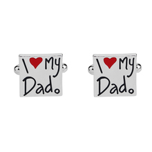 Interesting Style Metal Cufflinks I Love My Dad Cuff Links for French Shirts Gift for Father Father's Day Birthday Gift pardon my french