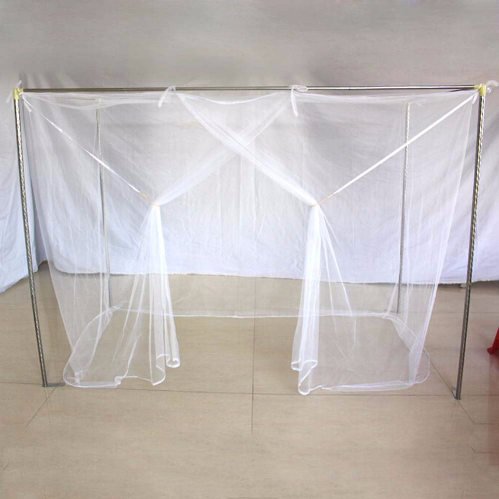 New 1PC White King Twin Size Four Corner Post Student Canopy Bed Mosquito Net Netting Queen Vintage