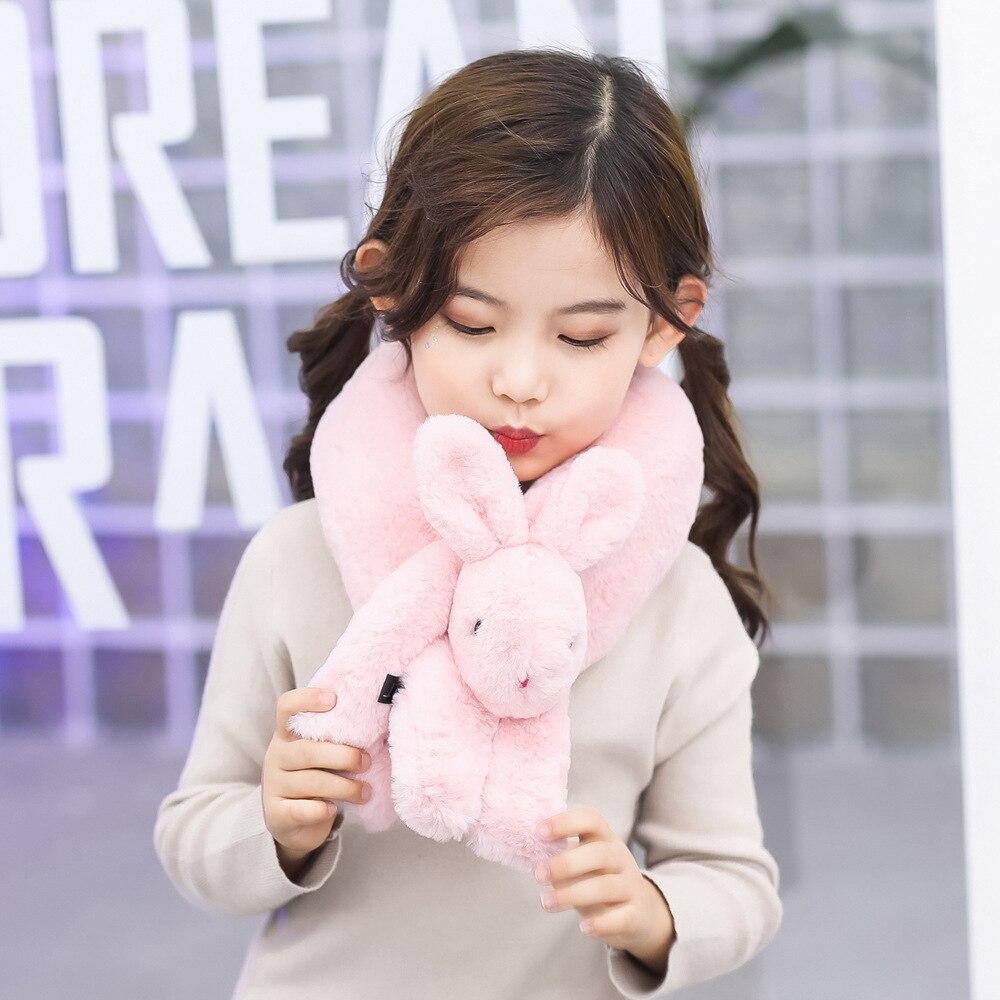 3D Rabbit Kids Baby Scarf Plush Soft Fur Children's Scarf Winter Autumn Boys Girls Scarf Keep Warm 2019 New Baby Girl Clothes