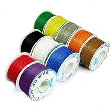 A Roll of 8 Colors 30AWG Winding Wire Tinned OK Wire PCB Jumper Wire Insulated Cable PCB Welding