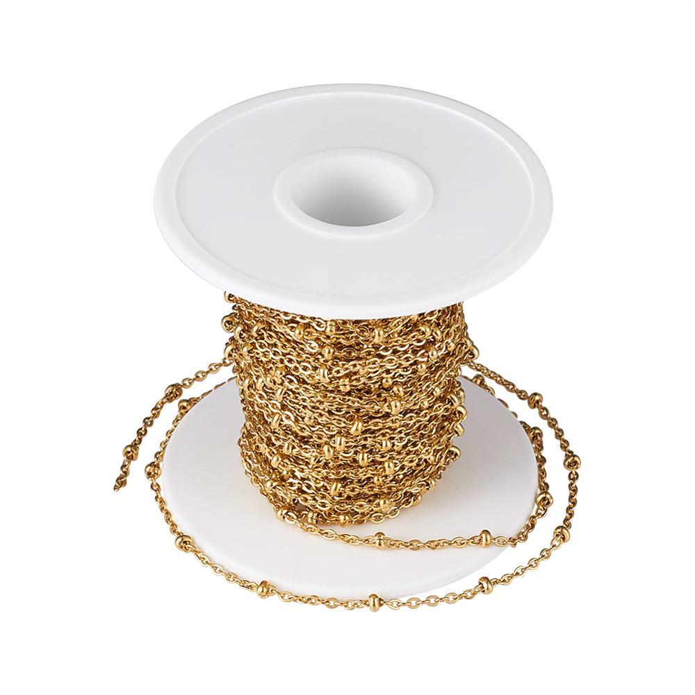 10 м/рулон, цепочки из нержавеющей стали 304 для изготовления ювелирных изделий, аксессуары «сделай сам» для браслетов, ожерелий с катушкой, цв...