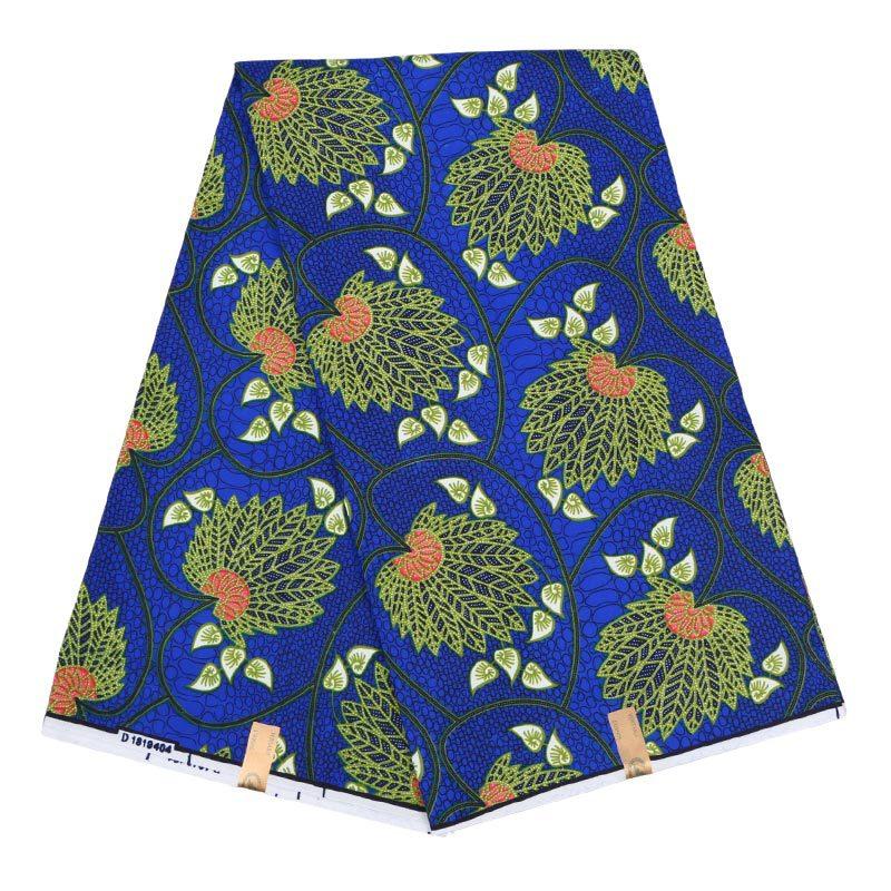 Dark Blue High Quality Ankara African Wax Print Fabric Wholesale 6 Yards African Wax Polyester Wax Fabric For Wedding Party