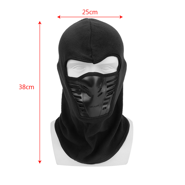 Motorcycle Face Mask Winter Windproof Hiking Cap For Ski Bike Motorcycle  Black Face Neck Warmer Helmet Hat Men Warm Thermal 5
