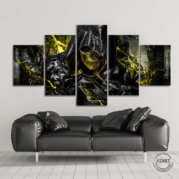 5 Piece Death Stranding Higgs Skull Mask HD Game Poster Canvas Painting Bedroom Living Room Decoration 1
